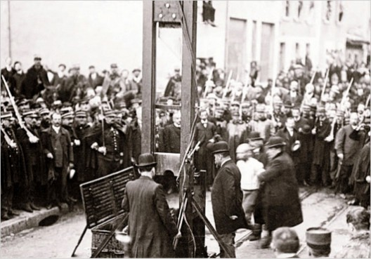 Execution in France, 1929 via New York Times
