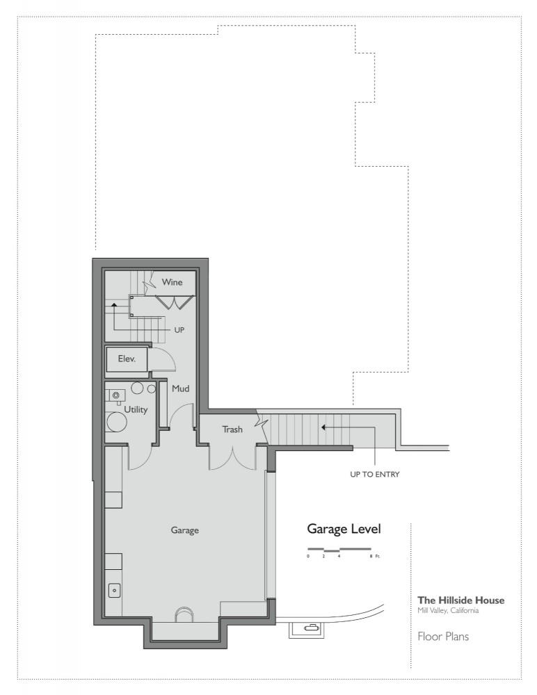 Architecture photography garage level plan 79268 for Hillside garage plans