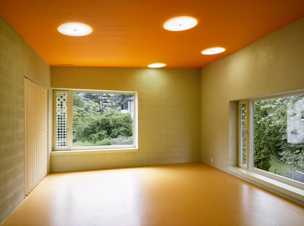 Monthey Kindergarden - Bonnard Woeffray Architectes © Hannes Henz