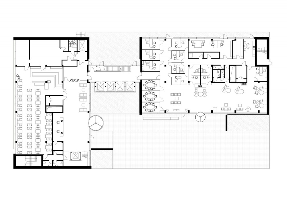 Architectural floor plans office building homedesignpictures for House plans with office