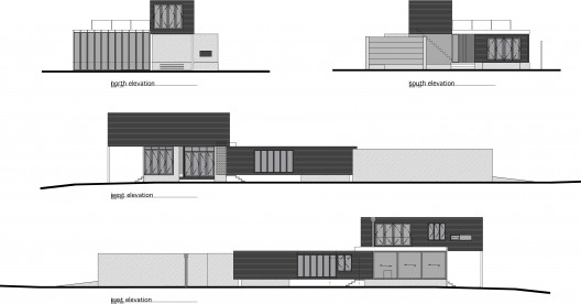Elevation Plan Presentation : Rutherford house tim dorrington architects archdaily