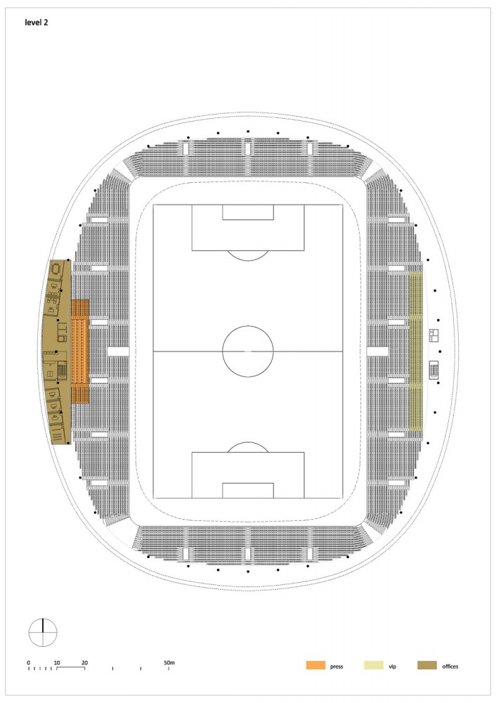 Football Stadium FC Bate Borisov / OFIS arhitekti