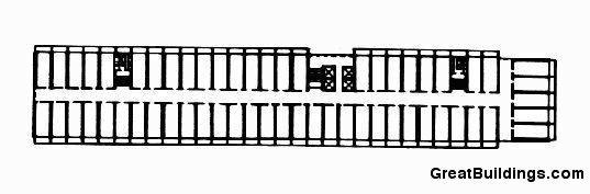 Architecture photography un d habit typical plan 85981 - Unite d habitation dimensions ...