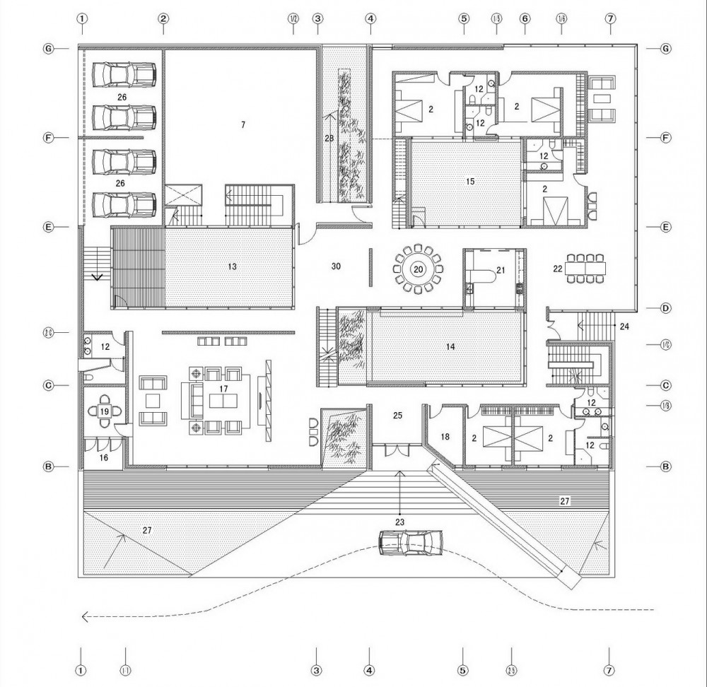 Architecture photography plan 01 87440 for House plans by architects