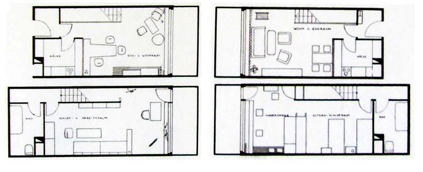 Architecture photography typical plan 89037 for Habitations home plans