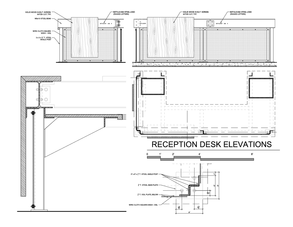 Site / Spillman Farmer Architects reception desk plan – ArchDaily