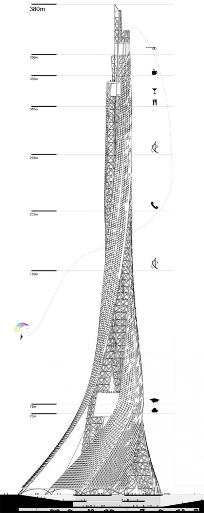 3x3x3 Taiwan Tower Competition / Broadway Malyan Architects