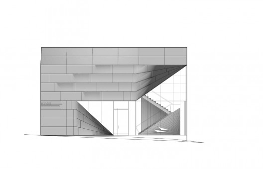 Plan And Elevation Of Prism : Prism contemporary art gallery p a t e r n s archdaily