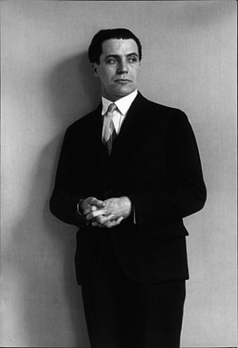 August Sander, architect Hans Heinz Luttgen, 1926, gelatin silver print (via iphotocentral.com). He seems confident yet uneasy before the lens. Like other upper-class subjects, he was photographed in front of a plain background, allowing the subject to speak without the aid of a cluttered context.