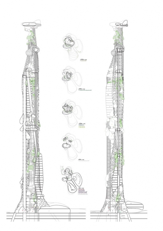 Tower of Droplets: Taiwan Conceptual Tower Competition Entry / CRAB Studio