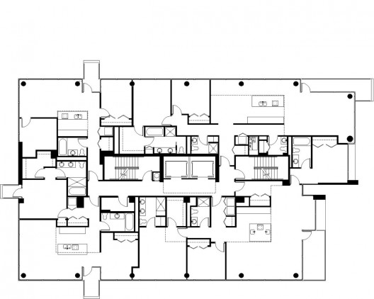 Contemporaine perkins will archdaily for Typical office floor plan