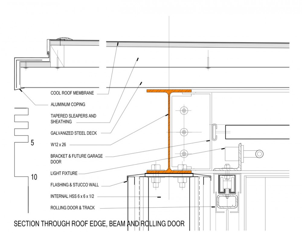 Architecture photography section detail 96327 for Flat roof plan drawing