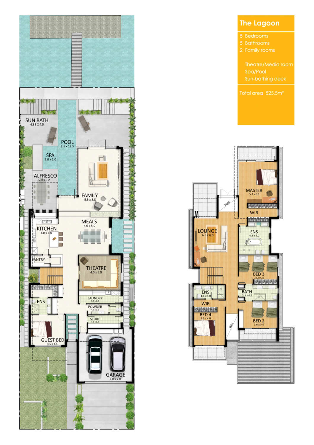 ... Clipper Bay Home / FGR Architects marketing floor plan – ArchDaily