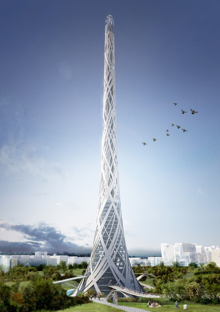 Taiwan Tower Competition Entry / Aedas R&amp;D