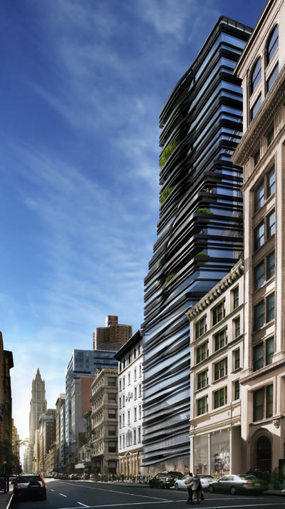 Update: Five Franklin Place / UNStudio