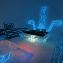 Disney Tron Legacy inspired - legacy of the river suite at the Ice Hotel - arctic sweden - Courtesy Ian Douglas-Jones and Ben Rousseau