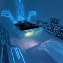 Disney Tron Legacy inspired - legacy of the river suite at the Ice Hotel - arctic sweden Courtesy Ian Douglas-Jones and Ben Rousseau