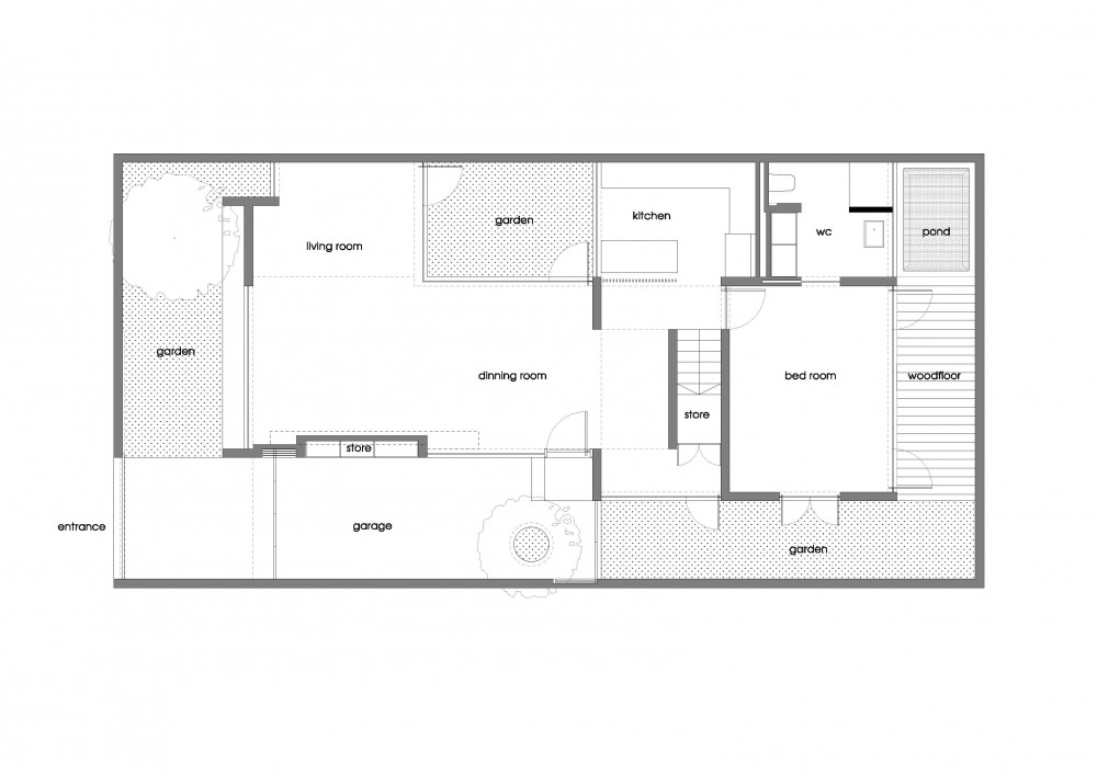 M11 house a21 studio archdaily Ground floor house plan
