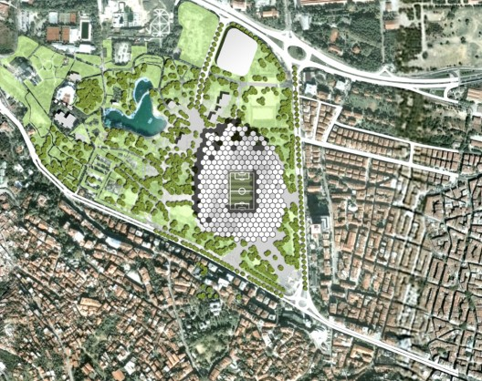 Proyecto New Bursa Stadium Hexagon Park