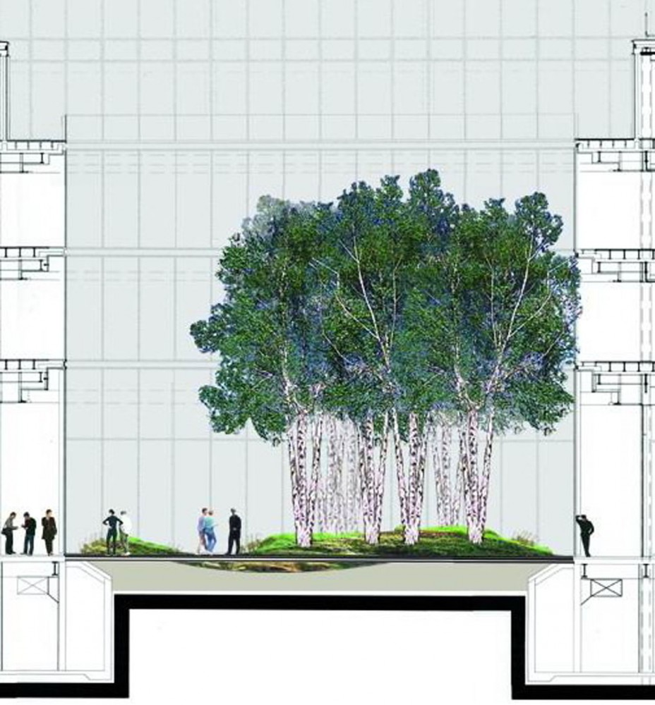 The New York Times Building Lobby Garden HM White Site Architects
