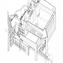 Atheneum_Axon Axonometric, Courtesy of Richard Meier & Partners Architects