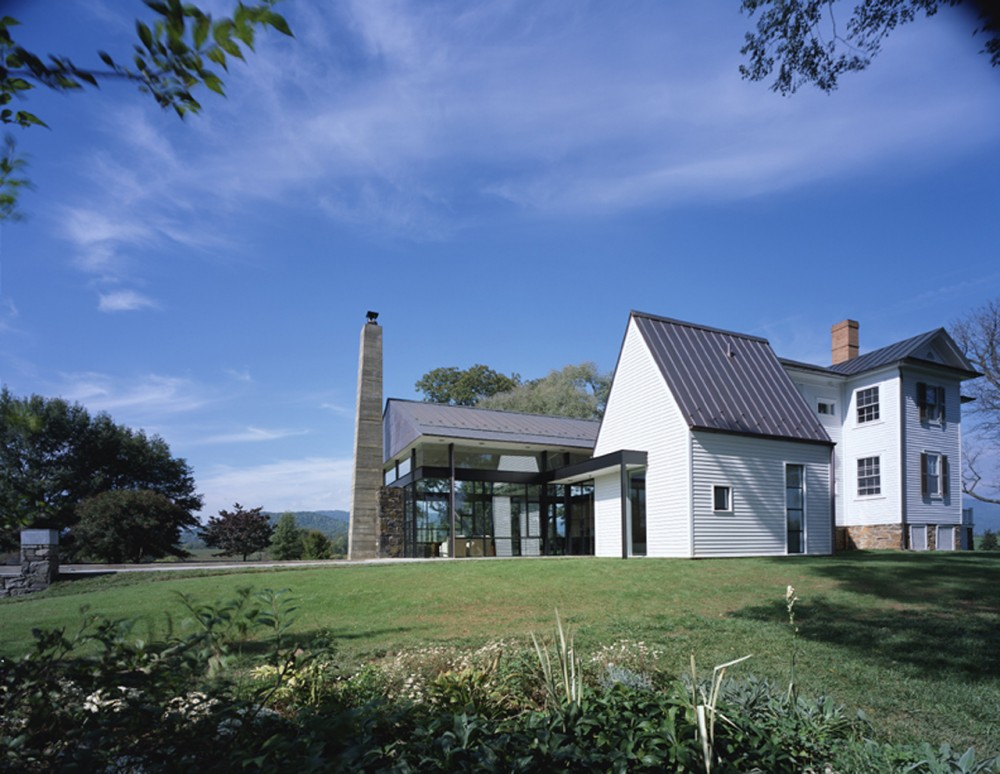 Blue Ridge Farmhouse Addition Robert Gurney Architect
