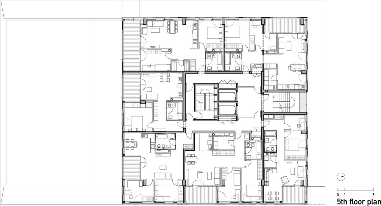 Architecture photography 5th floor plan 111510 for Residential building floor plan