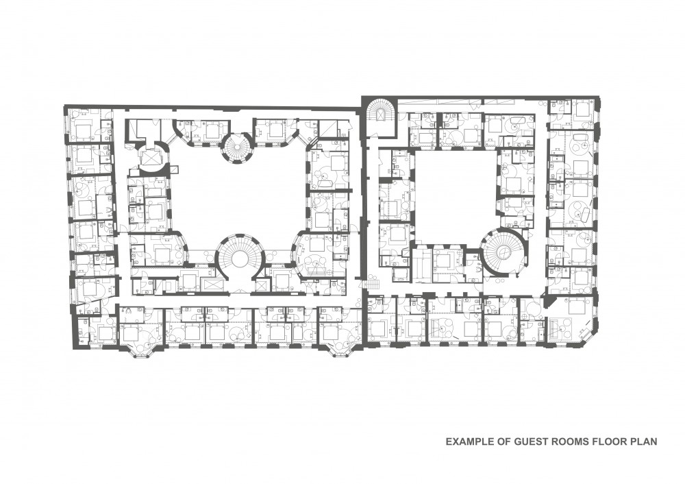 Floor plans with guest rooms floor plans for Hotel floor plan design