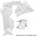 unfolded layout of the primary steel structure unfolded layout of the primary steel structure