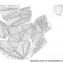 unfolded layout of the secondary steel structure unfolded layout of the secondary steel structure