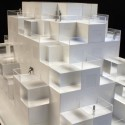 Cloud City / ALA Architects 1:200 scale model made by Klaus Stolt