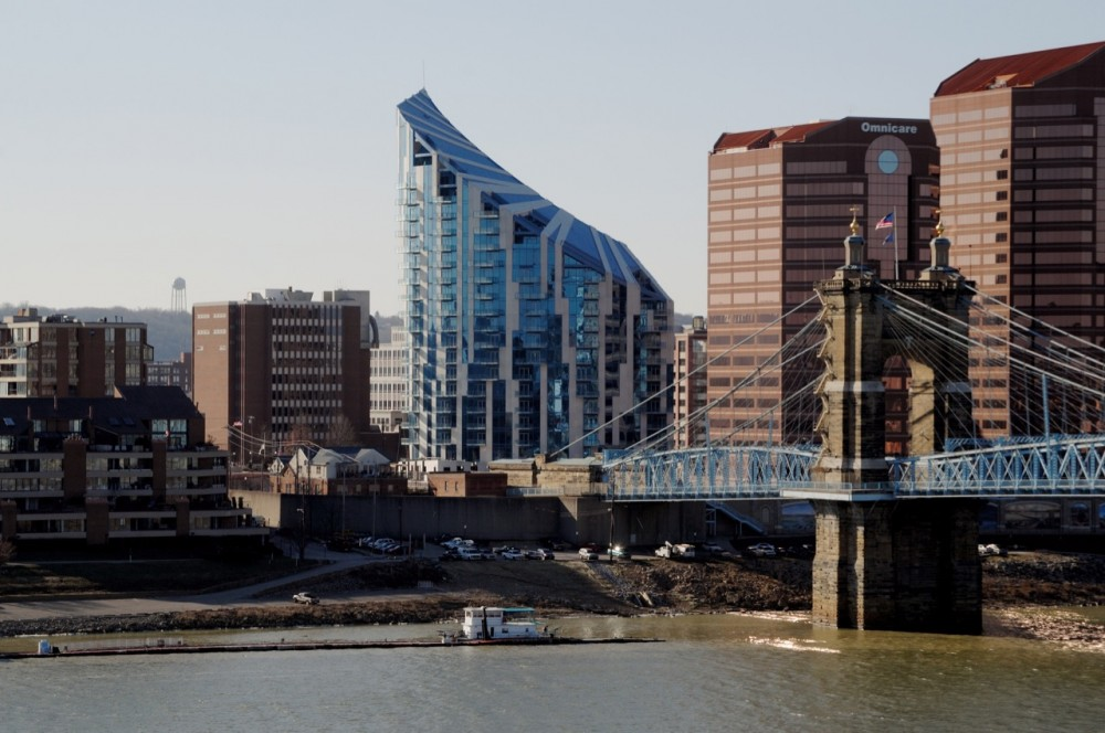 The Ascent at Roebling's Bridge / Daniel Libeskind