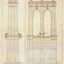 AD Classics: The Brooklyn Bridge / John Roebling elevation