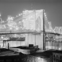 AD Classics: The Brooklyn Bridge / John Roebling Night view 1982