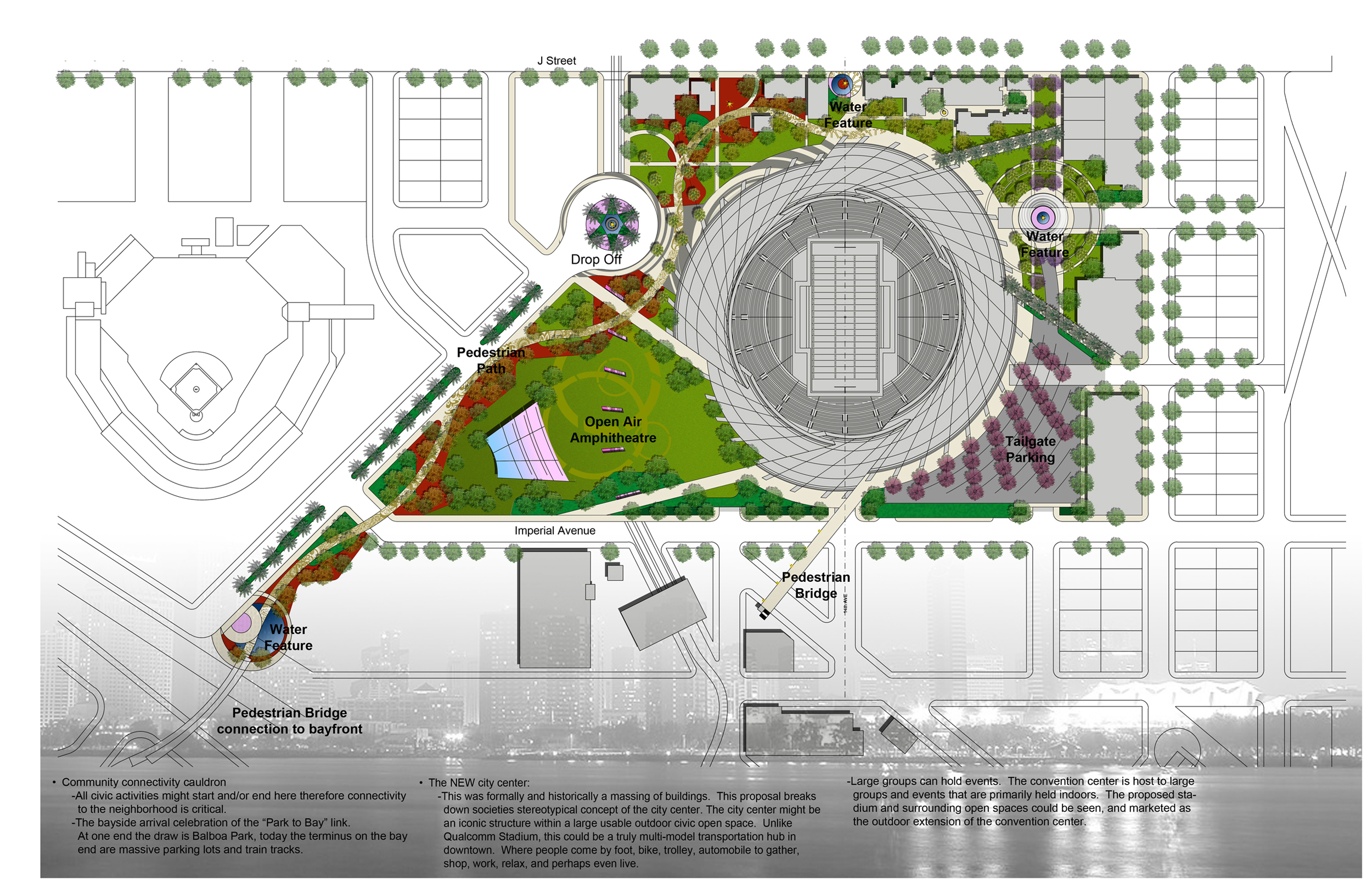 Architecture photography san diego stadium master plan for Master plan landscape architecture