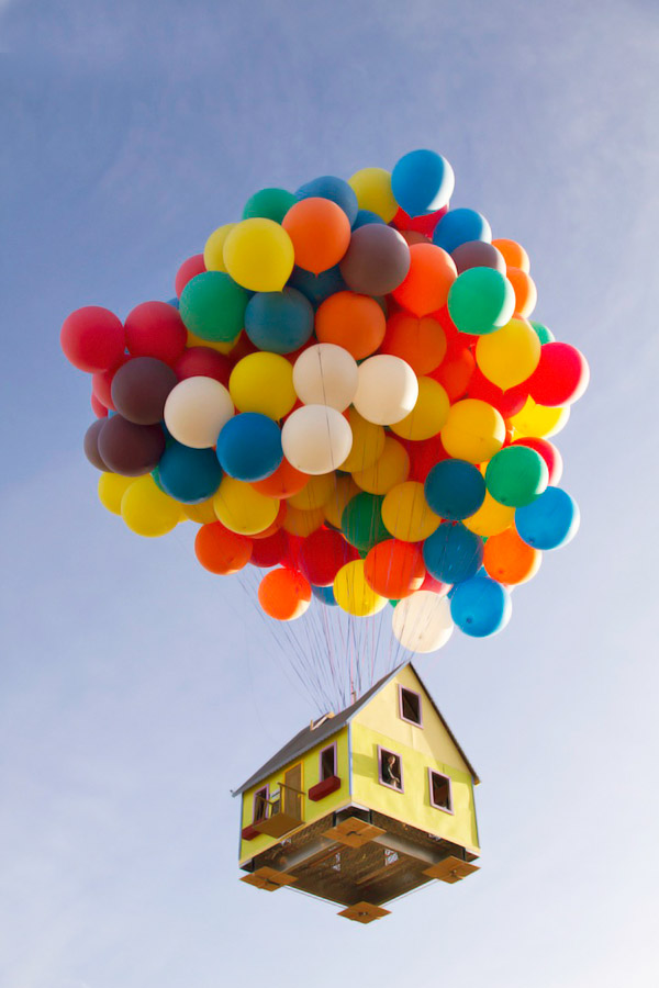Balloon House Takes Flight
