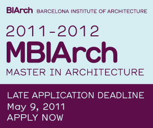 MBIArch  &#8211; The Barcelona Institute of Architectures post-professional Master in Architecture