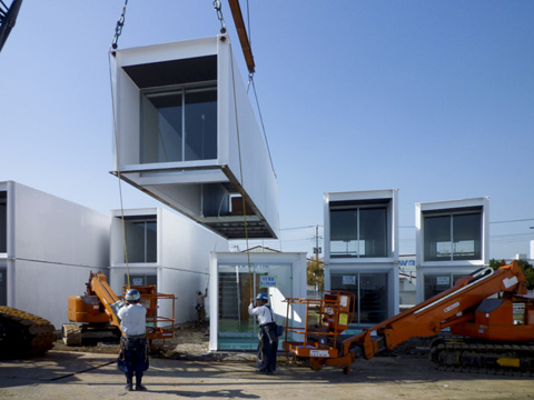 Ex container project yasutaka yoshimura architects for Prefab concrete house