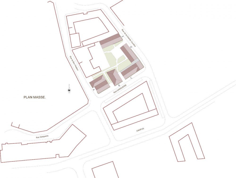 44 Logements tudiants Dans Campus de Troyes / Coloms + Nomdedeu Architectes