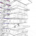 Vertical Villages for European Snowbirds / OFF Architecture, PR Architect and Samuel Nageotte Perspective Detail 05