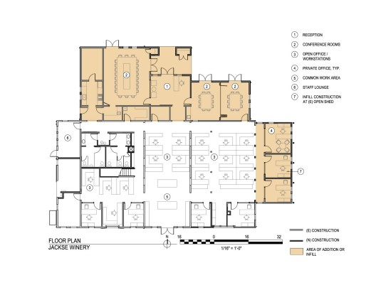 Jackse winery architectural resources group archdaily for Winery floor plans by architects
