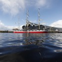 A First Glance at Zaha Hadid's Glasgow Riverside Museum of Transport © Culture & Sport Glasgow