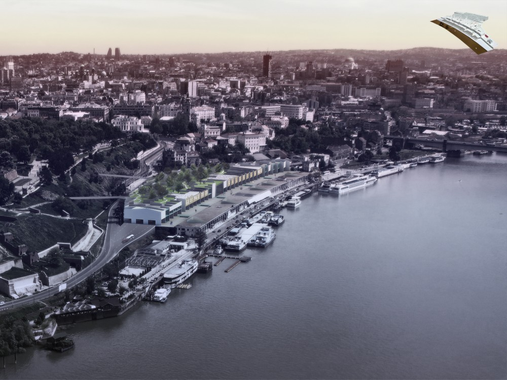 Beton Hala Waterfront Center Proposal / Pero Vukovic