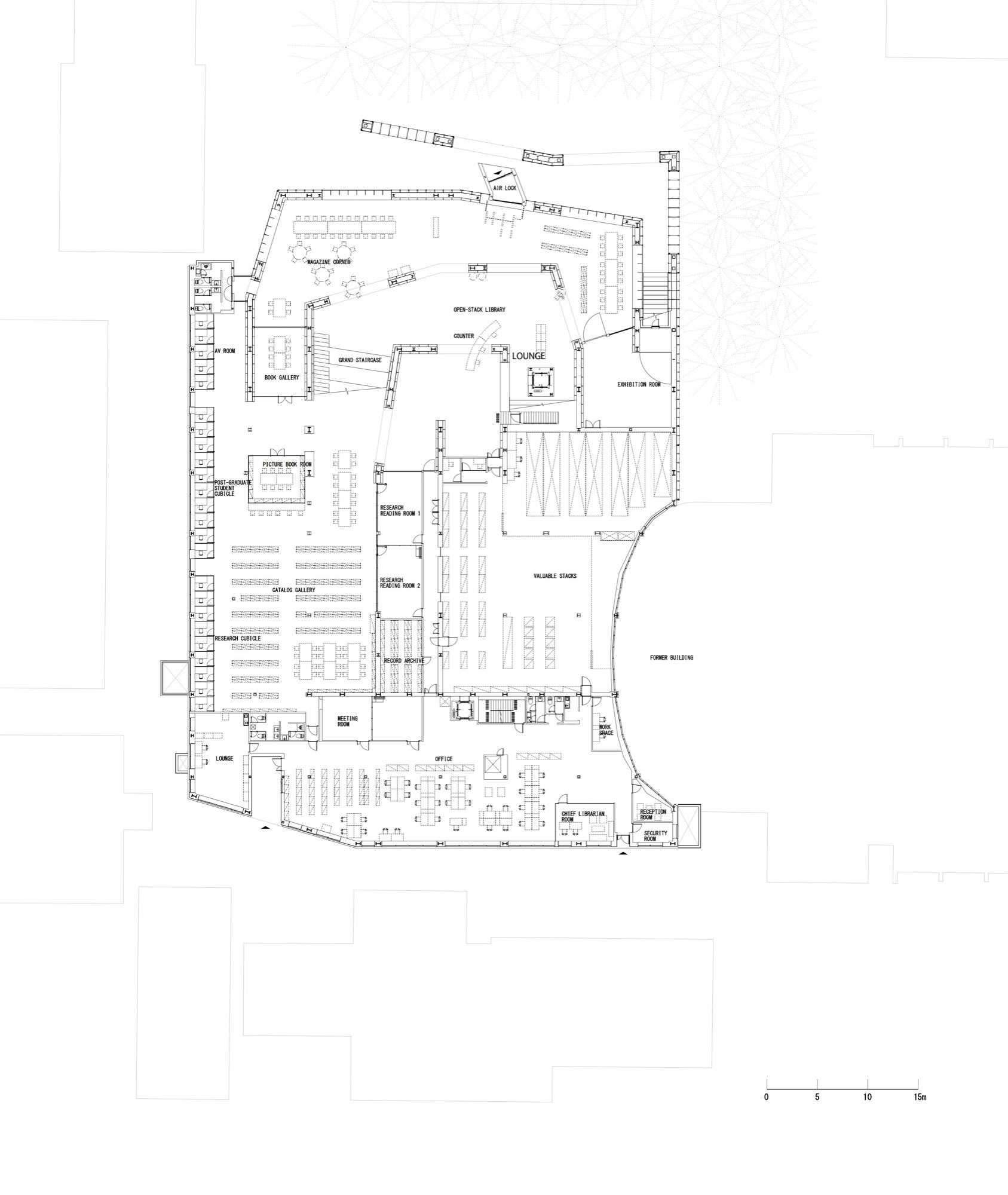 siheyuan floor plan justinpricewallace architecture urban musashino art university museum santiago vales below ground floor plan