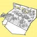 Mesterfjellet School Cebra sketch 03-central stair : © Cebra / Various Architects / Østengen & Bergo