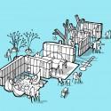 Mesterfjellet School Cebra sketch 04-garderobe : © Cebra / Various Architects / Østengen & Bergo