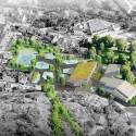 Mesterfjellet School aerial view : © Cebra / Various Architects / Østengen & Bergo