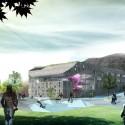 Mesterfjellet School view from playground : © Cebra / Various Architects / Østengen & Bergo