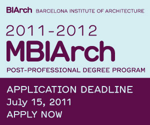 MBIArch post-professional degree open for applications