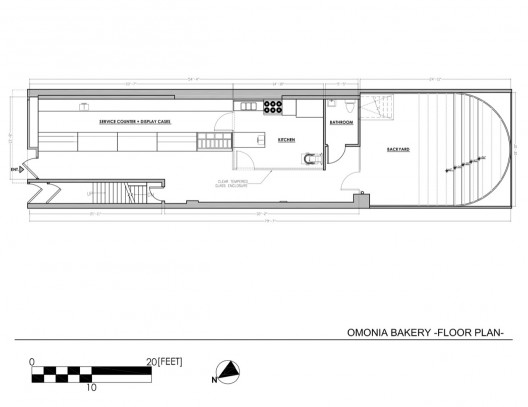 Omonia bakery bluarch archdaily for Bakery floor plan